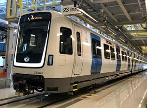 MOVIA C30 Metro at Norsborg Depot