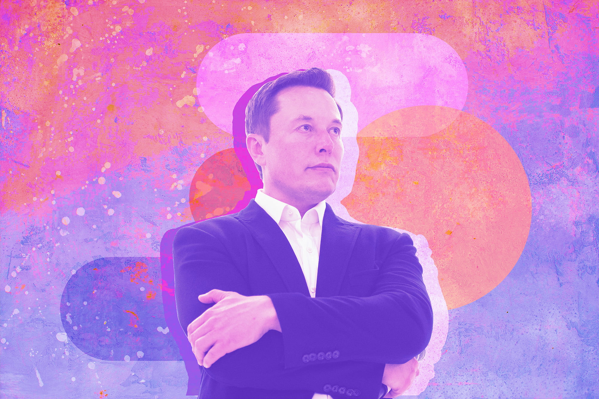 tesla and spacex CEO elon musk stylized image