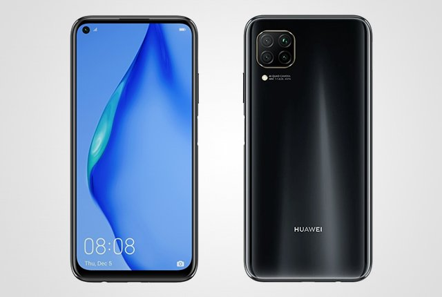 Huawei P40 Lite front and back