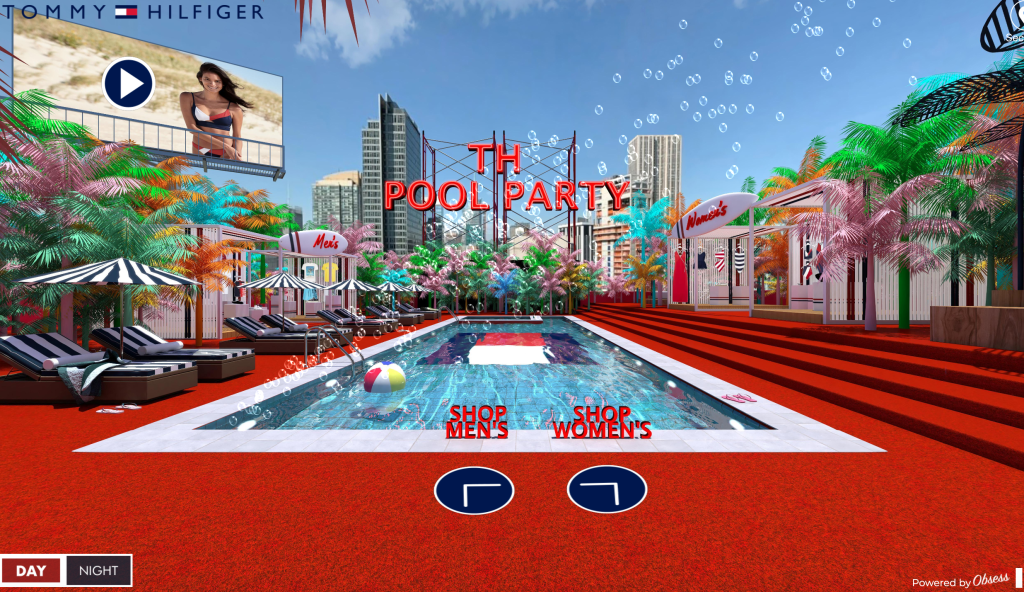"""Tommy Hilfiger """"Pool Party"""" augmented reality prohject developed by Obsess"""