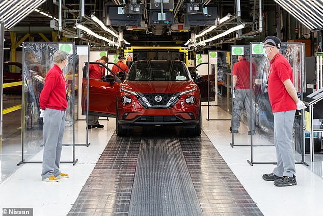 Production slump continues: Just over 5,000 new cars were build in UK factories last month, as social distancing measures and lower demand hammered outputs to their lowest level in 74 years