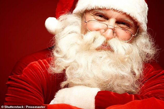 Scientists said Father Christmas may appear more real to Children because of cultural traditions - such as leaving out milk and cookies that 'vanish' by the morning