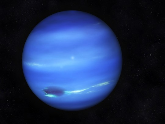 TOI 849 b is believed to be around the same size as Neptune, pictured here (Nasa)