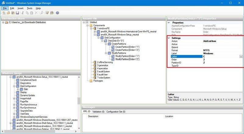BIOS format Windows 10 partition