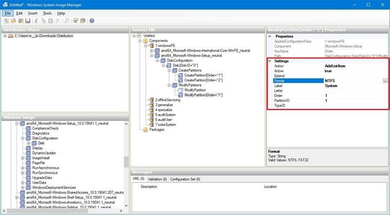 BIOS format boot partition