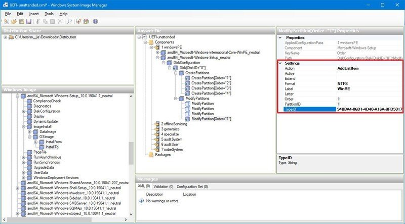 Windows Recovery (WinRE) format