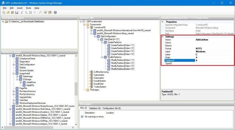 Windows 10 partition format