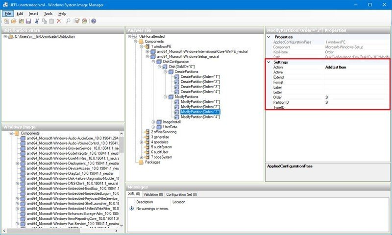 Microsoft reserved partition (MSR) format