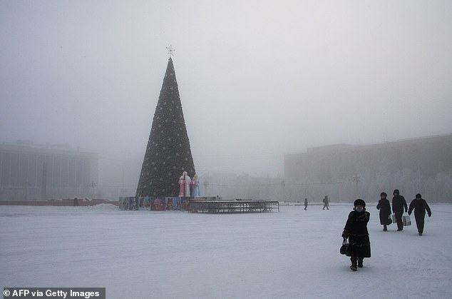 Over the last decade, average yearly temperatures in Yakutsk have risen four degrees Fahrenheit