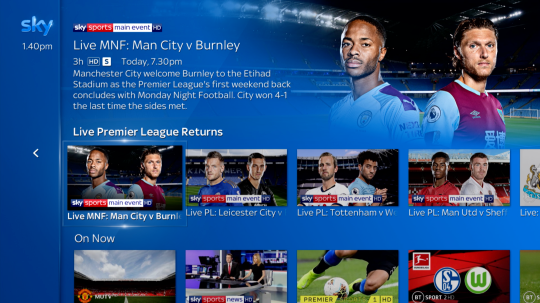 Sports fans will find all the content of their favourite sport grouped together (Sky)