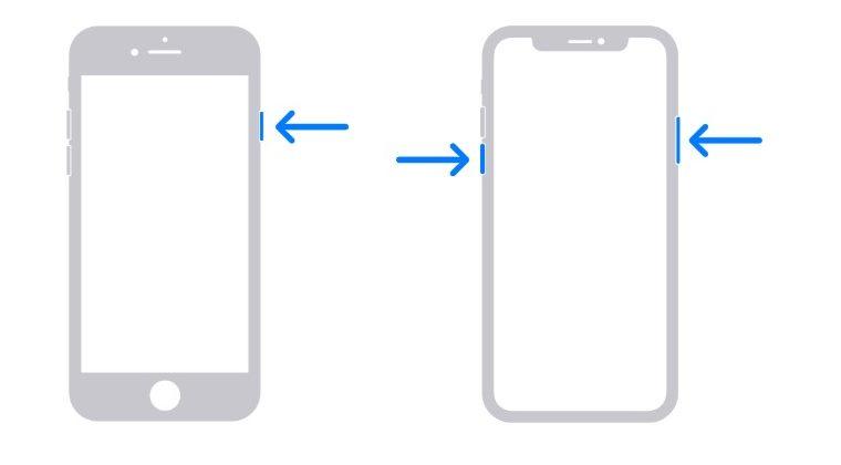 restart iphone fix error