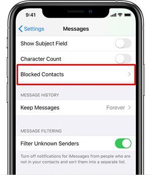 iphone contacts fix error