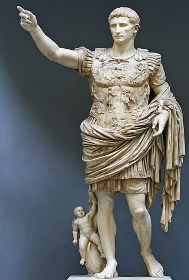 The article suggests a potential relation between favouring climate conditions and the change into the great empire founded by Octavius Augustus (pictured) in 27 BC