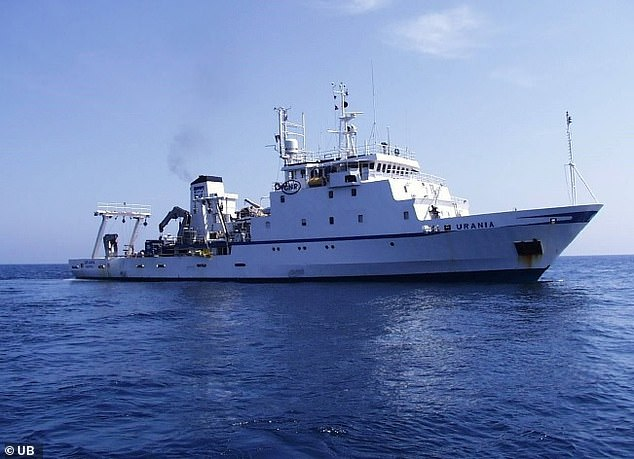 The RV Urania research vessel took part in the scientific research in the Mediterranean Sea