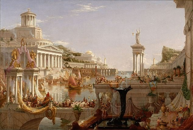 According to the authors, this phase coincides with the development of the expansion of the Roman Empire. Image: The Consummation of the Empire, Thomas Cole (1836)