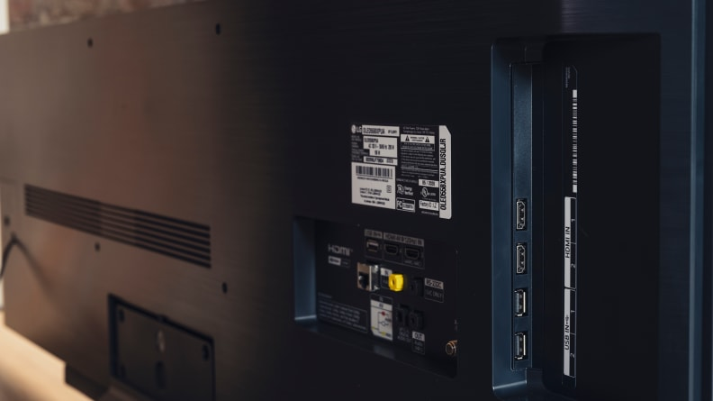 LG BX OLED Connectivity Inputs and Ports