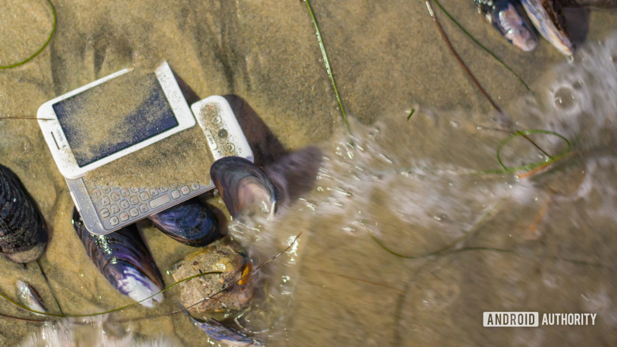 E Waste smartphone on beach3