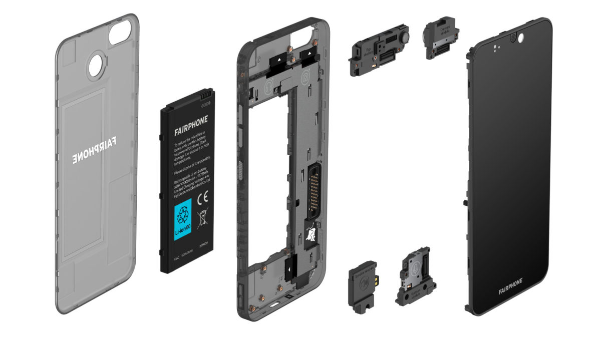 A look at the various components of the Fairphone 3.
