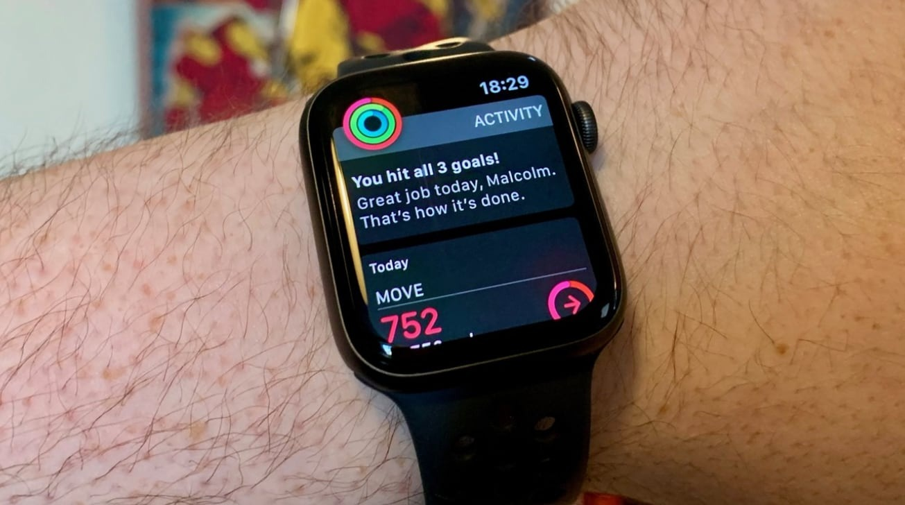 The Apple Watch encourages activity by closing its three iconic rings.