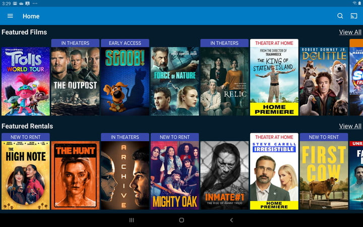 Vudu Interface Android