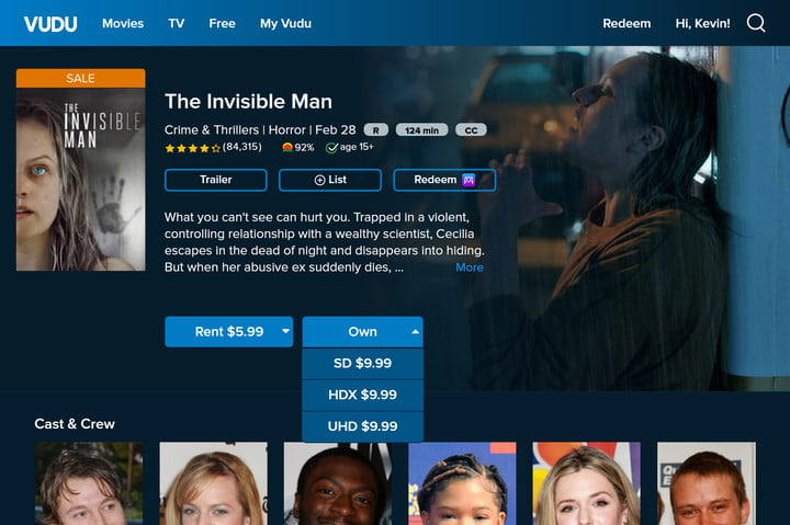 Vudu Invisible Woman Page