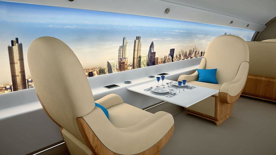 Inside Spike's S-512 supersonic private jet.