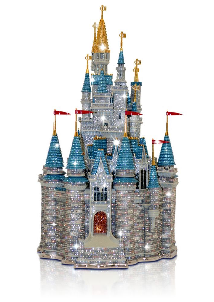 This Walt Disney World Cinderella Castle Sculpture by the Arribas Brothers costs $37,500. Photo courtesy of ShopDisney.