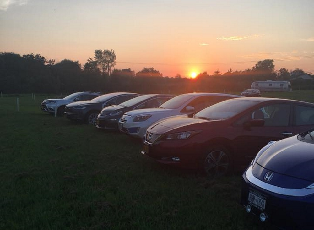 Capital District EV Drivers drive-in movie night in Greenville, NY [CREDIT: Scott Edward Anson]