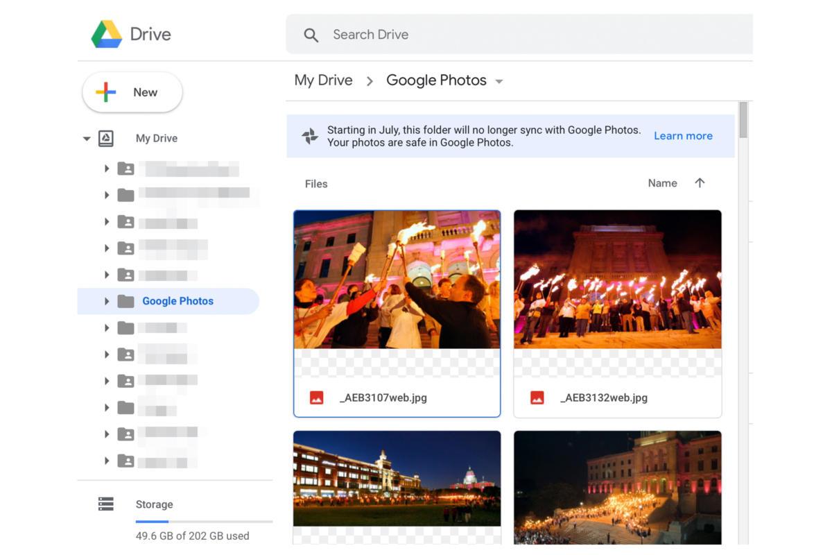 google photos drive sync