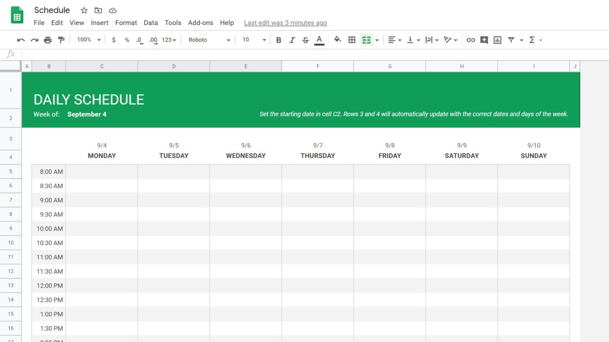 How to use google sheets featured image - schedule template