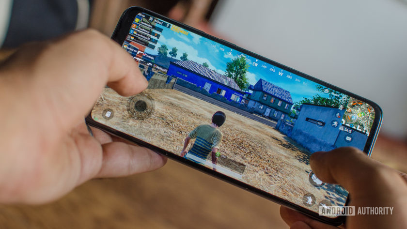 Samsung Galaxy A70 playing PUBG