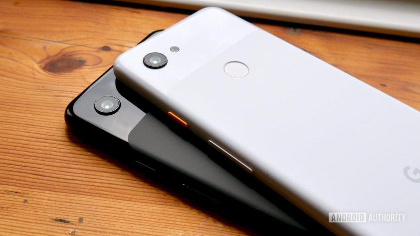 Google Pixel 3a and Pixel 3a XL rear
