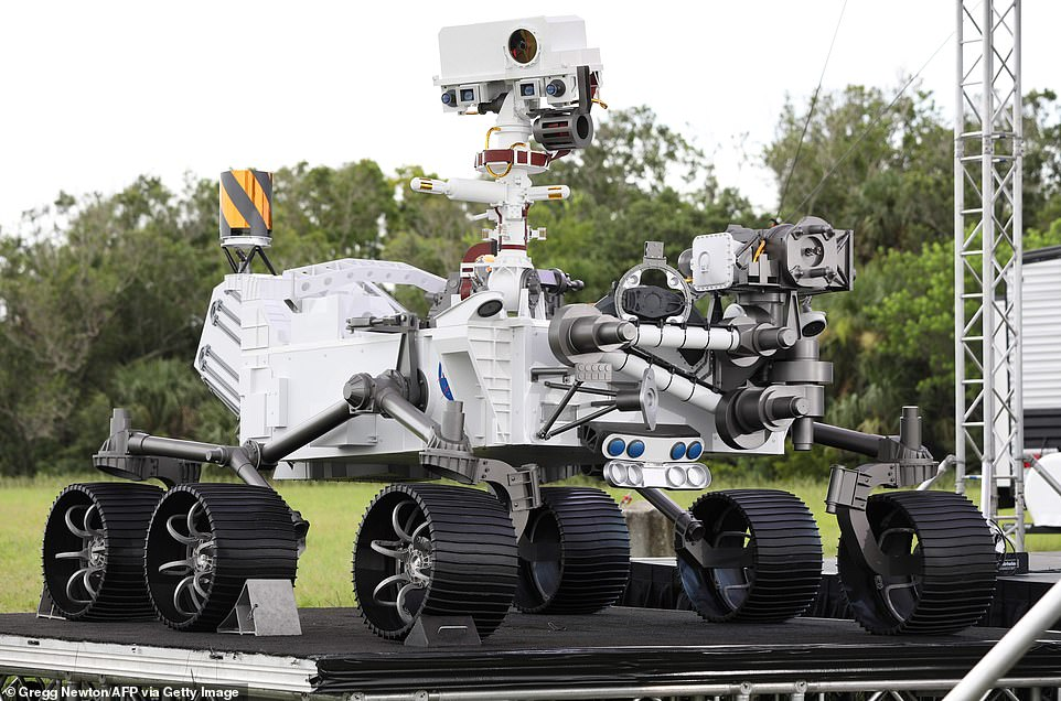NASA is gearing up to send its Perseverance rover to Mars. The six-wheeled vehicle is currently atCape Canaveral Air Force Station in Florida as it waits to for its 314 million mile journey to the Red Planet