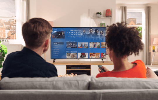 Sky has expanded the home page to show users more of what it thinks they'll like (Sky)