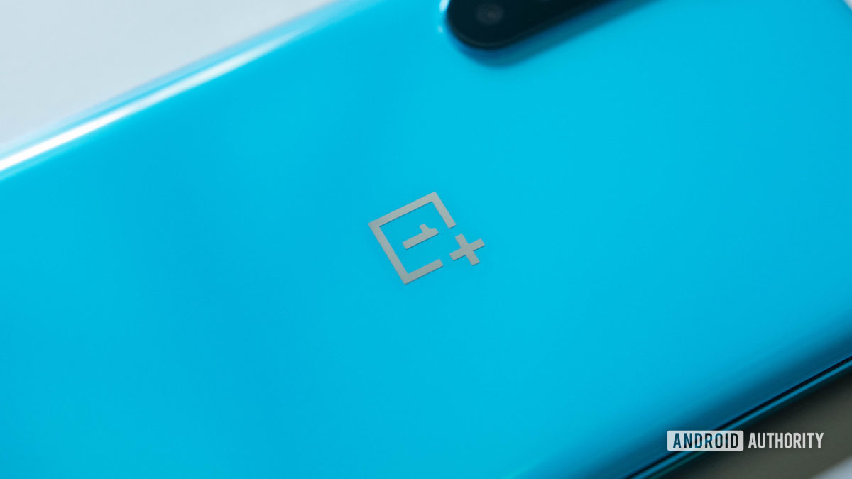 OnePlus Nord Angled macro close up of OnePlus logo