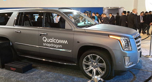 A Qualcomm 5G car. Photo: Raphael Kahan