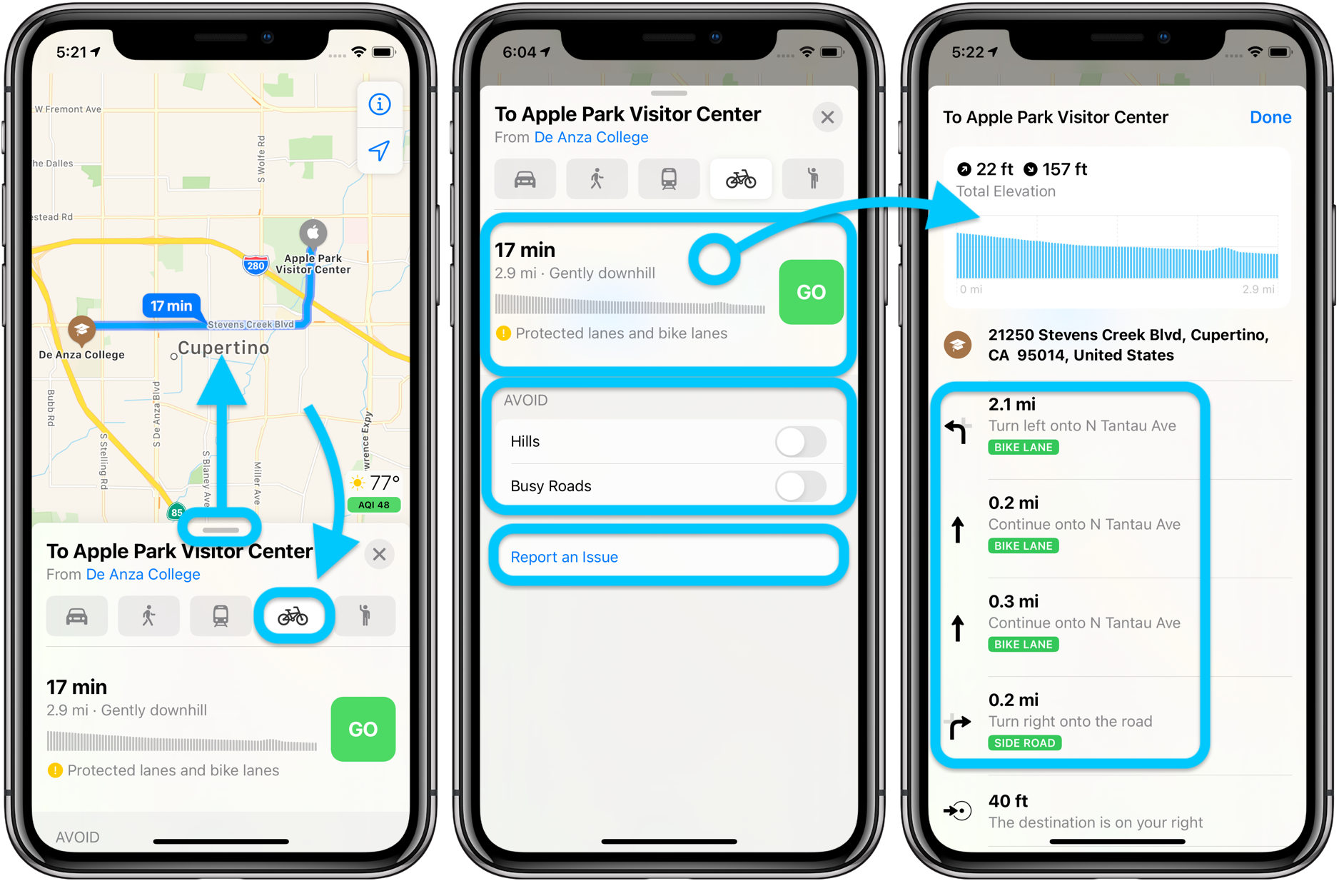 How to use Apple Maps cycling directions in iOS 14 walkthrough 1