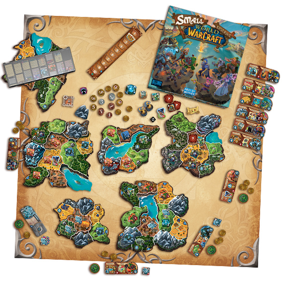 An overview of the name game board and pieces.