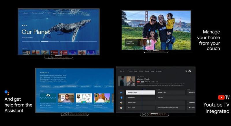 Google Sabria Android TV interface
