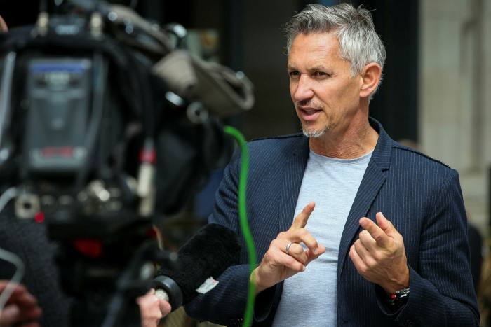 Gary Lineker, the presenter of 'Match of the Day'