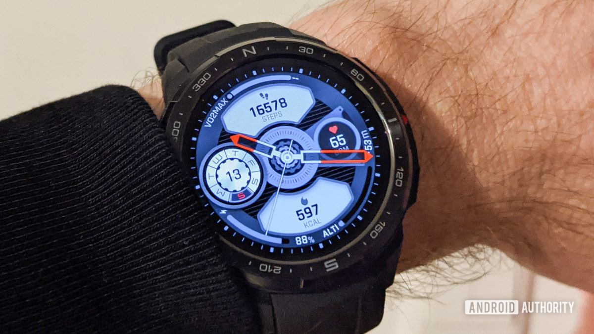 Honor Watch GS Pro watch face with step count