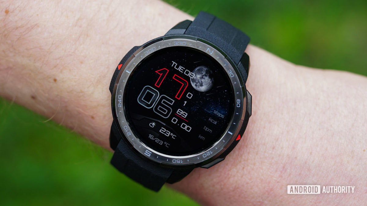Honor Watch GS Pro moon phase watch face