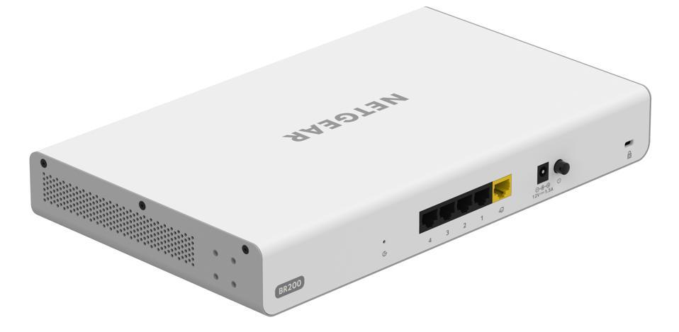 Rear view of Netgear BR200