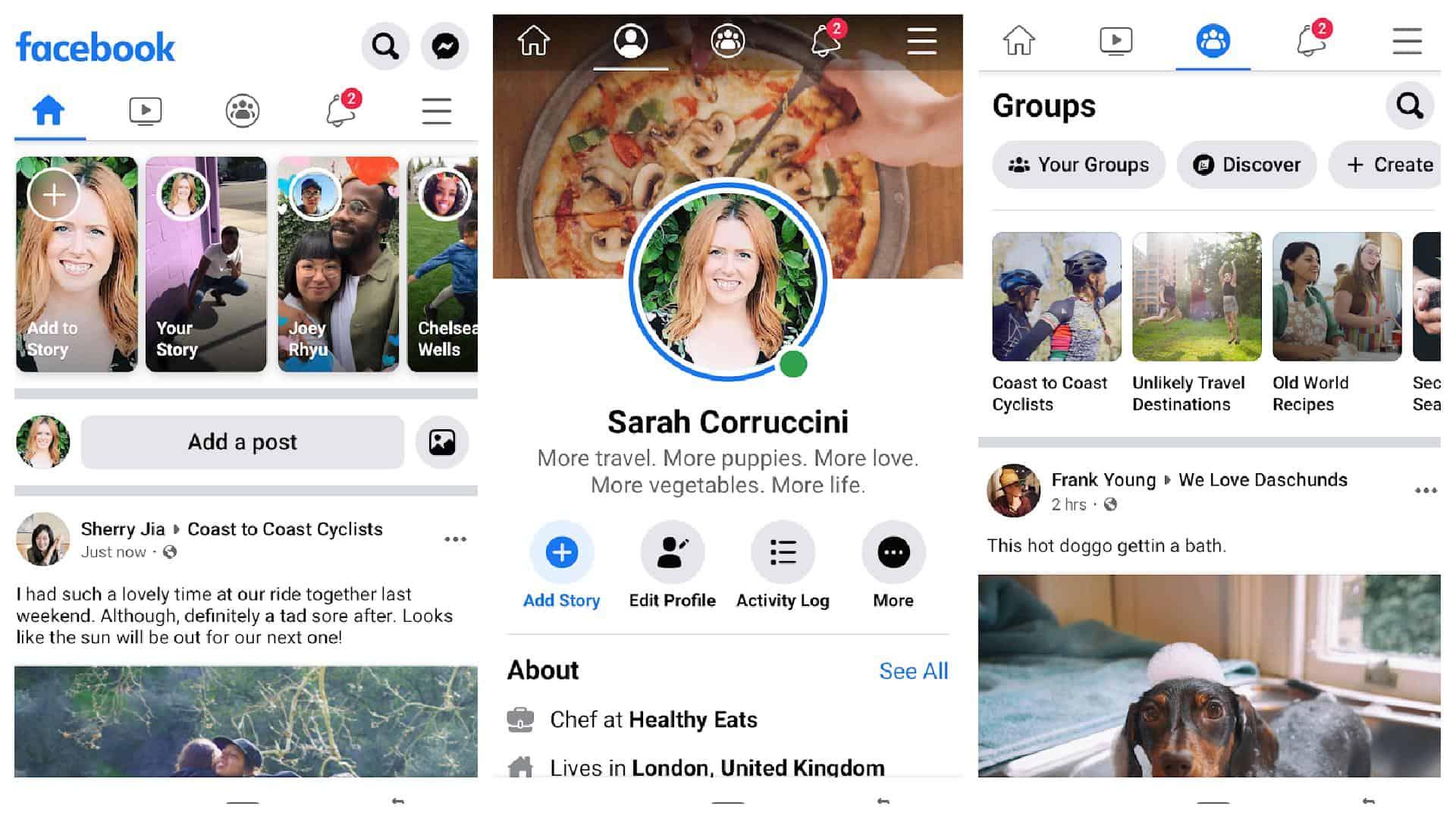 Facebook app grid 1