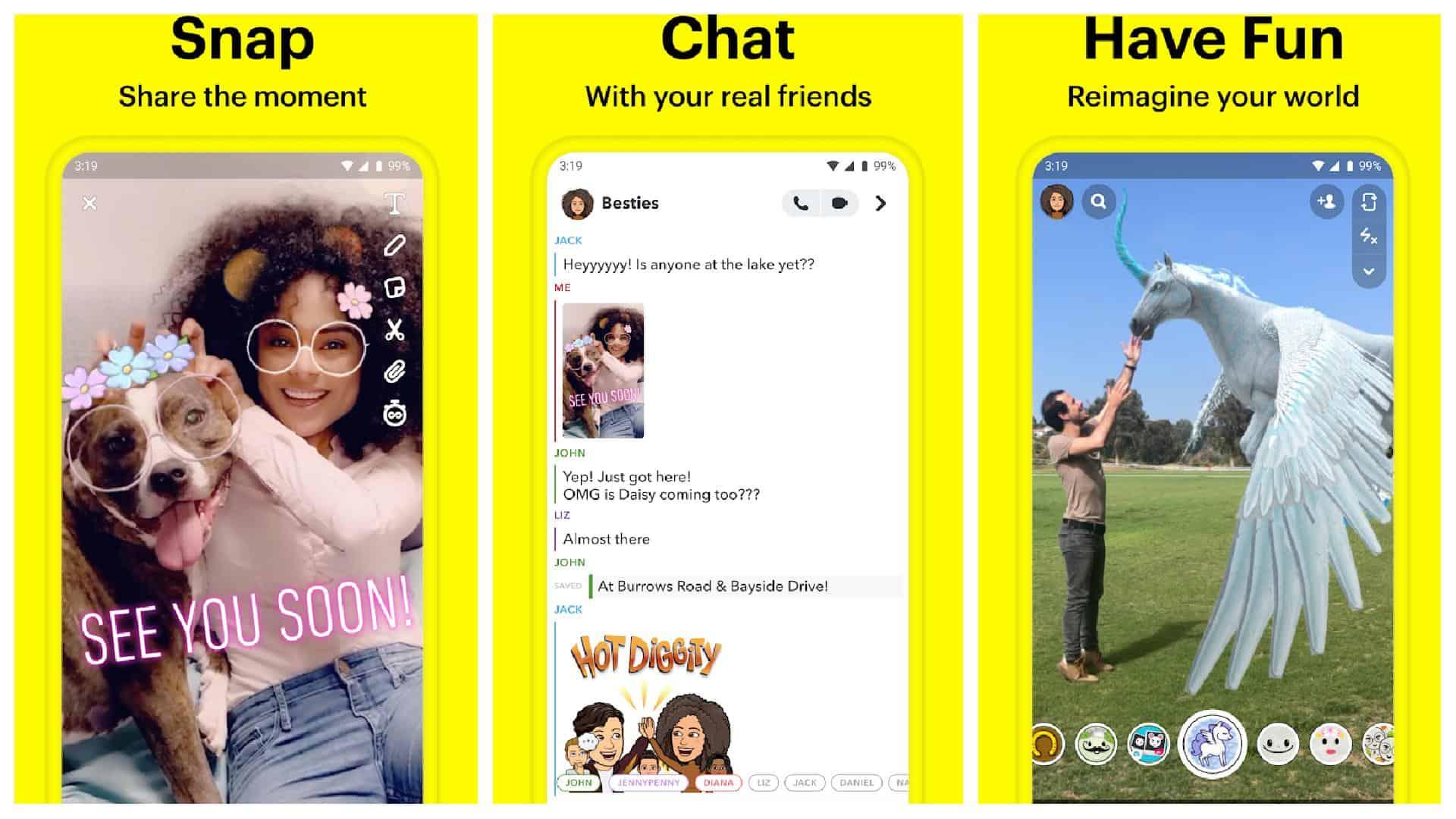 Snapchat app grid 1