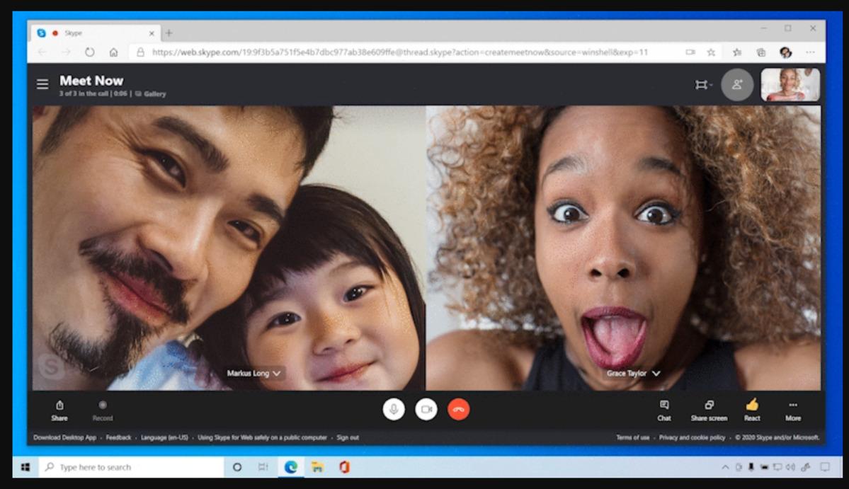 Windows 10 Skype meet now multiple people
