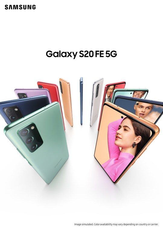 Plenty of colours to choose from (Samsung)