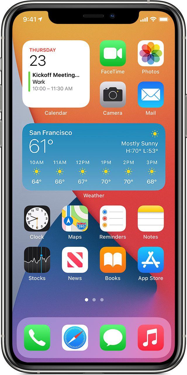 The iPhone update lets you add widgets to your home screen