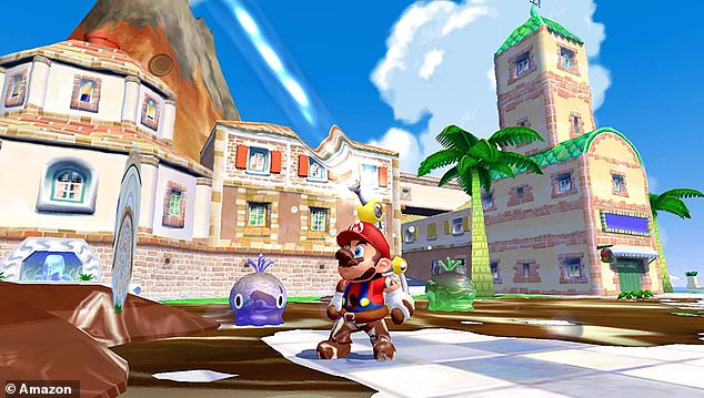Super Mario Sunshine was one of the bestselling Gamecube titles and sees Mario team up with FLUDD to clean up Isle Delfino