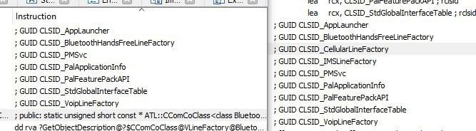 Windows 10 phone calls GUID